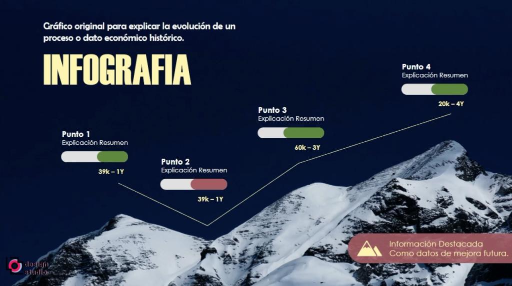 PowerPoint Infografía Montaña